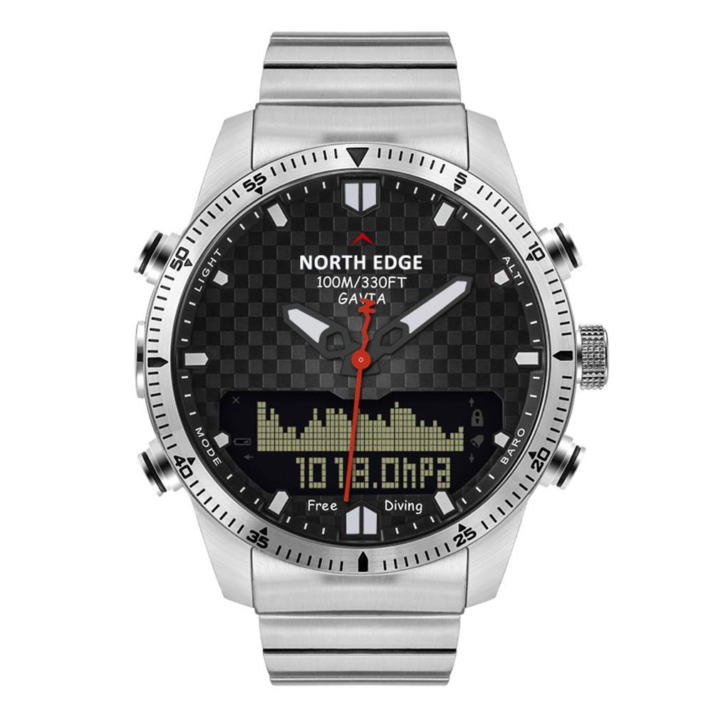 OOLIFENG 100M Waterproof Digital Sport Watches, Dive Watches Men, Altimeter Barometer Compass Thermometer Design for Outdoor Sports, Young People