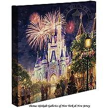 Thomas Kinkade Main Street U.S.A.,® Walt Disney World® 14x14 Canvas Wrap