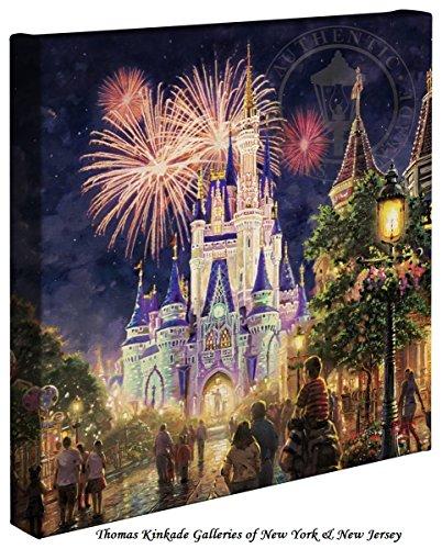 Thomas Kinkade Main Street U.S.A.,® Walt Disney World® 14x14 Canvas - World Frames Disney