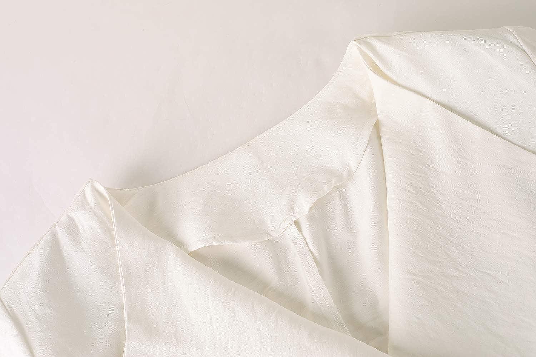 GAMISOTE Womens Chiffon Blazer Open Front Fall Long Sleeve Light Cardigan Jacket