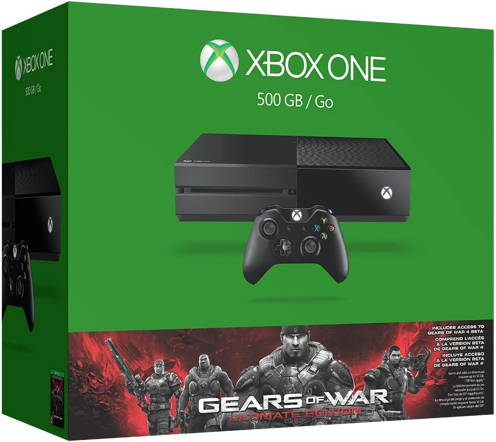 Xbox One 500GB Console – Gears of War Ultimate Edition Bundle
