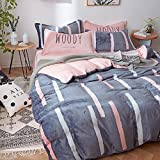 Cartoon Flannel Bedding Sets - Winter Home Textiles Dormitory Students Gifts Warm Feelings AB Design Full