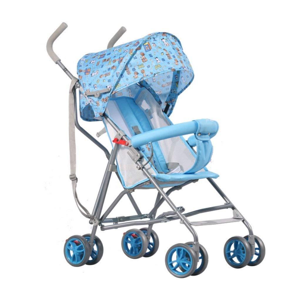 折りたたみベビーカーライトと快適なシェードベビーカー (色 : 青)  青 B07QQRC217
