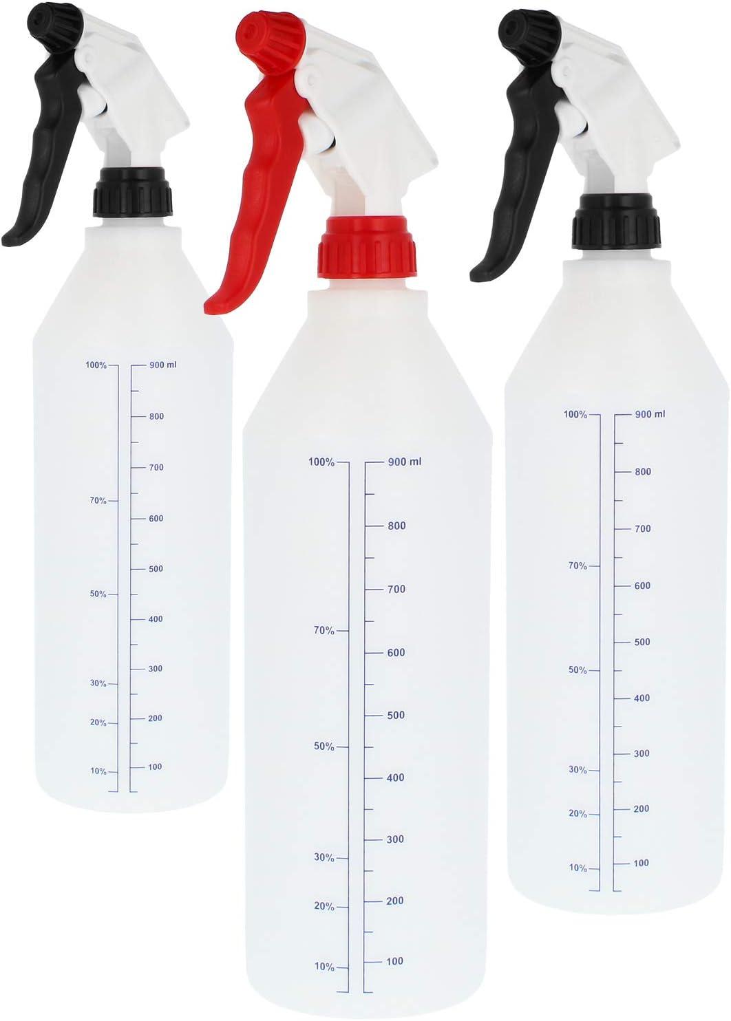 com-four® Botella de Spray 3X pulverizador de Bomba Resistente a Productos químicos para disolventes y ácidos diluidos