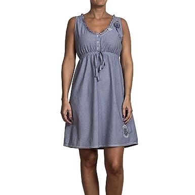 783cf1a447278 Timezone Damen Kleid (mini) Dress 14-0060, Gr. 38 (M), Blau (soft ...