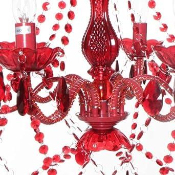 t/äuschend echt wie Glas ARTE 6 KLAR diverse Farben Varianten ARMIG k/öniglicher KRONLEUCHTER Deckenleuchte /Ø 55 cm H/öhe 68 cm mit geschliffenen Arcyl Prismen traumhaft romantisch ROOMPRODUCTS