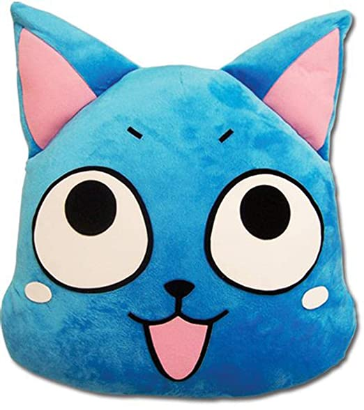Amazon.com: Fairy Tail Happy Cojín Almohada: Home & Kitchen