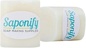 2LB Shea Butter Melt and Pour Soap Base | Make Your Own Gentle Detergent-Free Glycerine Soaps with Professional Grade Base by Saponify