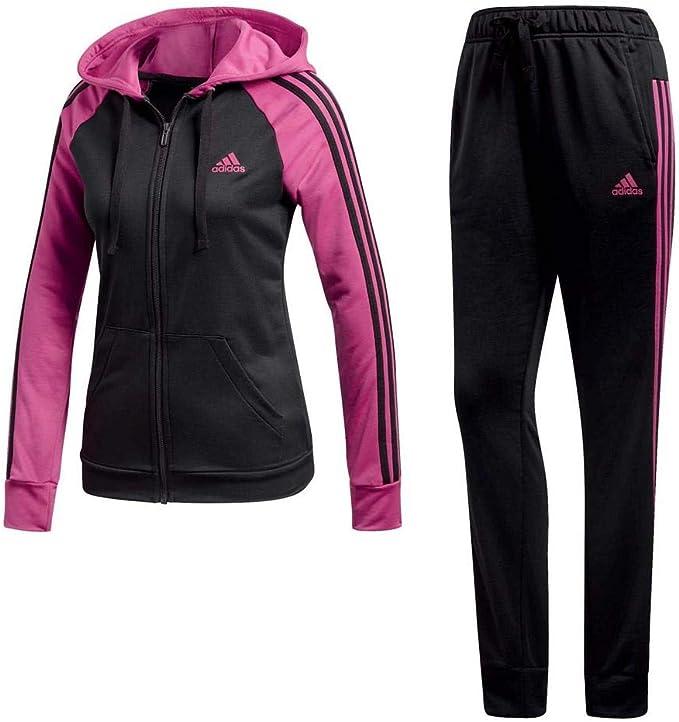 adidas anzug damen schwarz pink