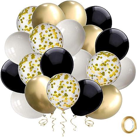 Luft Qualität Party Dekorationen Ballon Gold /& Schwarz Latex Helium Ballons