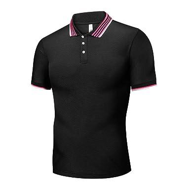 be4fd6265e86fb 半袖tシャツ メンズ Masinalt 半袖 ポロ シャツ ヨーロッパ とアメリカ メンズ シンプル ラペル M-