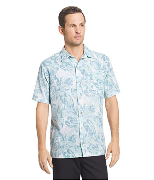 f95454e1 Image Unavailable. Image not available for. Color: Van Heusen Men's Big and  Tall Oasis Classic Fit Button-Down Short Sleeve Shirt (