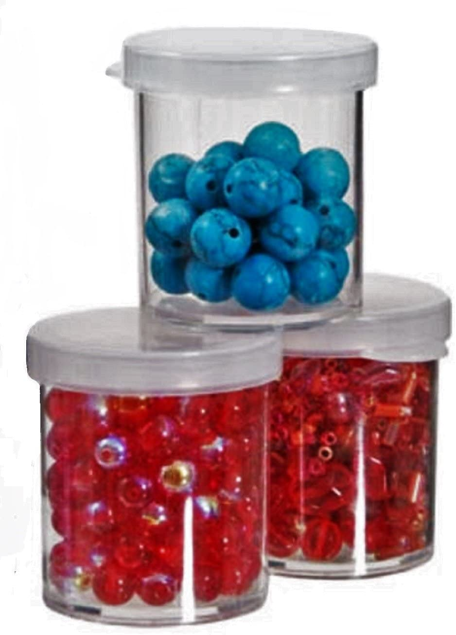 3-pk Set Mini Storage Containers for Arts and Crafts 1.5 x 1.25 Inches