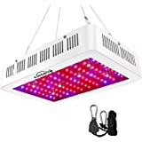 1000W LED Grow Light Double Chips Full Spectrum Grow Lamp Daisy Chain with Rope Hanger for Indoor Plants Greenhouse Hydroponic Plants (White)