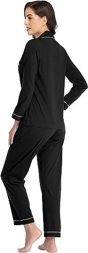 NEW Ladies 100/% Cotton Ralla Jacquard Stripe Cottonreal Pyjamas//Loungewear