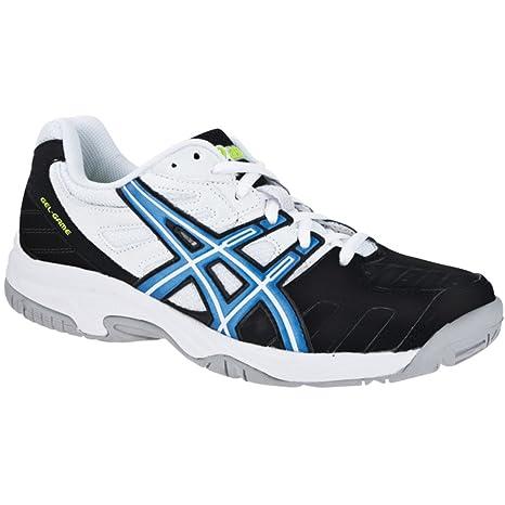 Asics Gel-Game 4 GS - Zapatillas de Tenis para niño Negro/Azul/