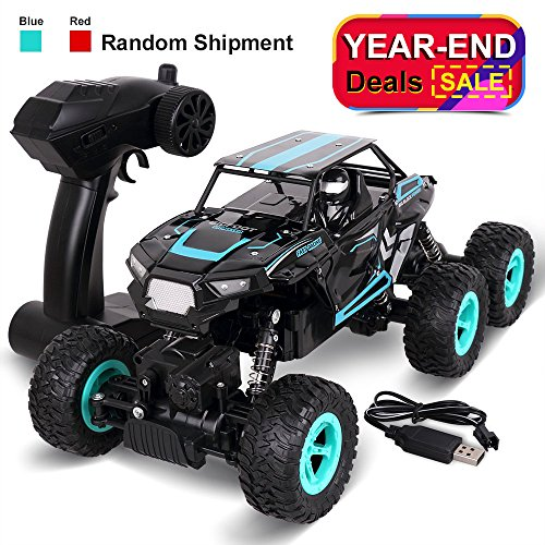 Remote Control Car, Rolytoy 3 Strong Motors 6WD High Speed 1:14 Scale Terrain RC Cars with Rechargeable Batteries, Electric Remote Control Drive Off Road Trucks, 2.4Ghz Radio RC Climb Buggy Crawler