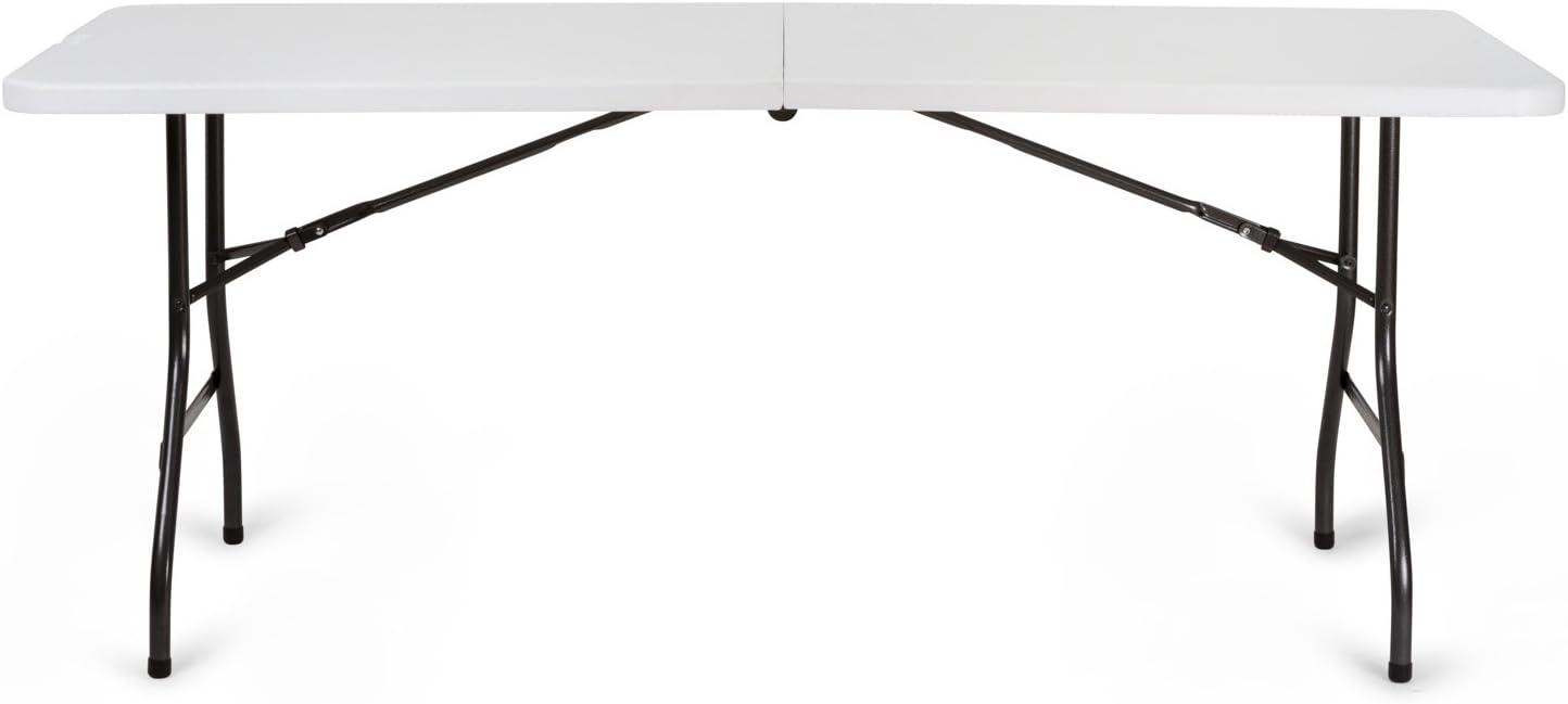 Newstorm OSKAR180 Mesa Plegable Tipo Maleta, Blanco/Gris Oscuro
