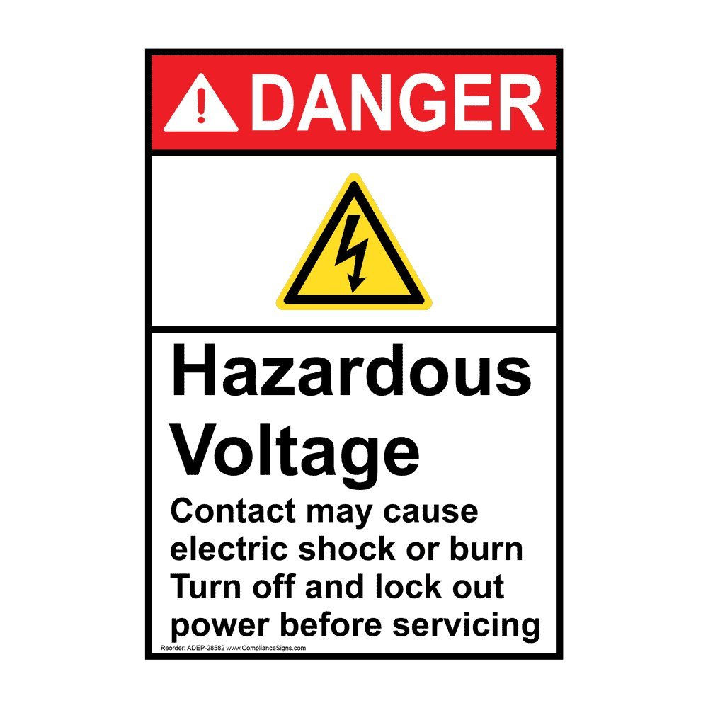 DANGER  HIGH VOLTAGE  OSHA Decal   Free Shipping