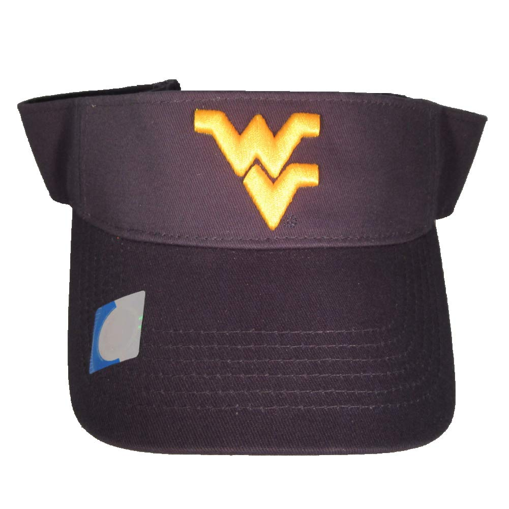 Collegiate Headwear West Virginia Mountaineers Visor. Navy Blue
