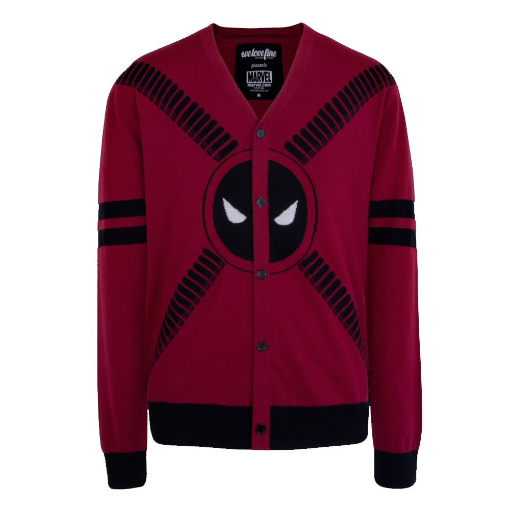 Deadpool Symbol and Straps Men's Cardigan- Small