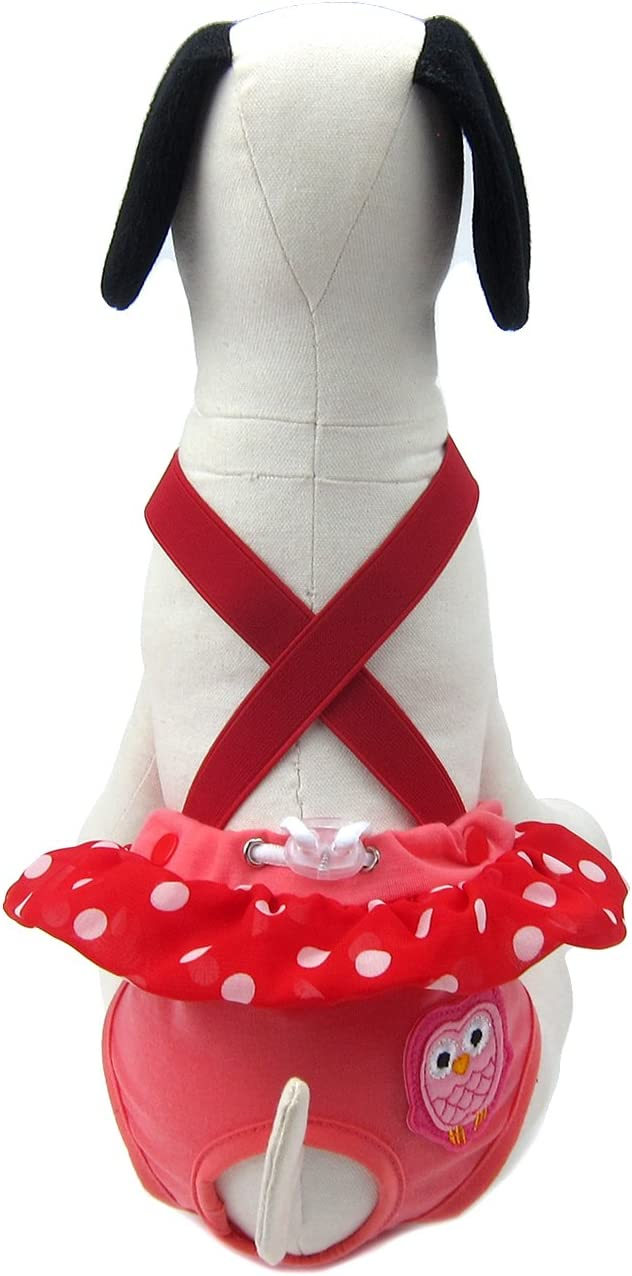 Color: Navy Alfie Pet Ariel Diaper Dog Sanitary Pantie with Suspender for Girl Dogs Size: XS