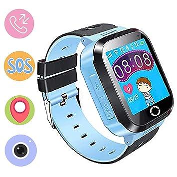 Jaybest Reloj Niños GPS Track SmartWatch Phone, Smartwatch para niñas y niños con Cámara Juegos Linterna Chat SOS Ranura para Tarjeta Pantalla Táctil ...