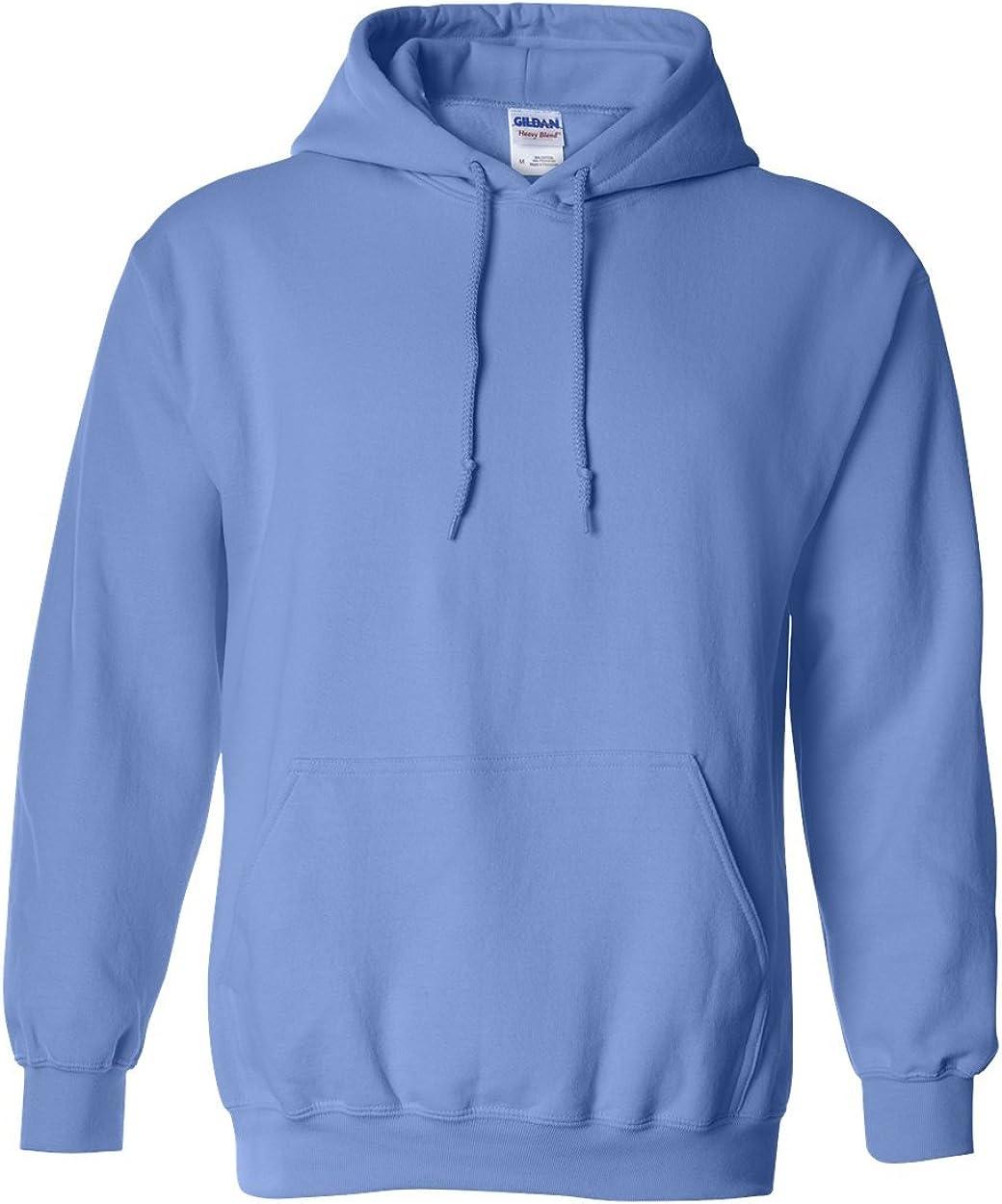 GILDAN Mens Rib Knit Pouch Pocket Hooded Sweatshirt