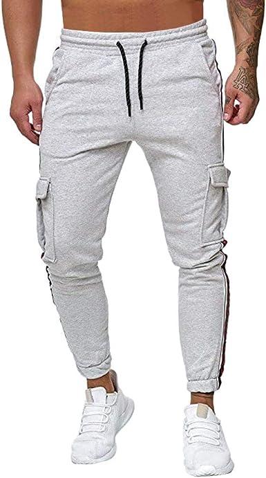 VPASS Pantalones Hombre Casuales Moda Trabajo Pantalones ...