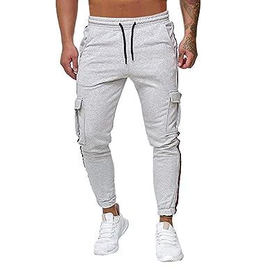 VPASS Pantalones Hombre Casuales Moda Trabajo Pantalones Pants ...