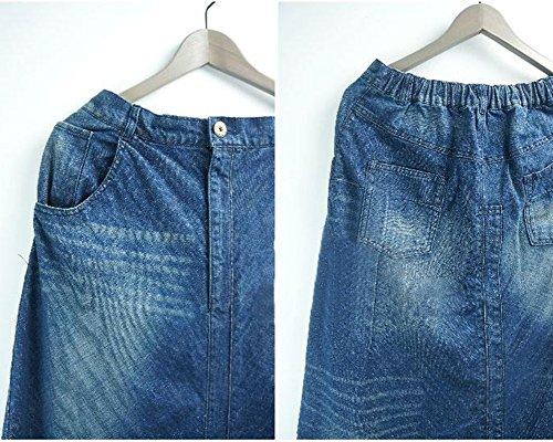 Sarouel Jambe Large Harem Jeans Femmes Pantalon Large Jeans Bleu ZiXing Pantalon AEIqB
