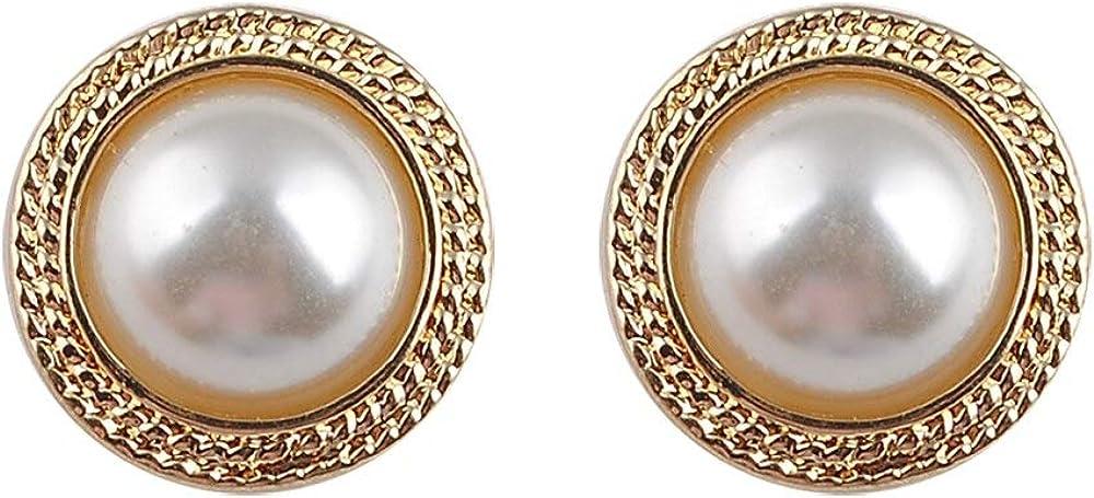 Japón nuevo vintage ronda mármol ópalo piedra aretes grandes para mujeres temperamento de moda perla simulada