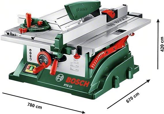 Bosch PTS 10 - Sierra circular de mesa (prolongación de mesa ...