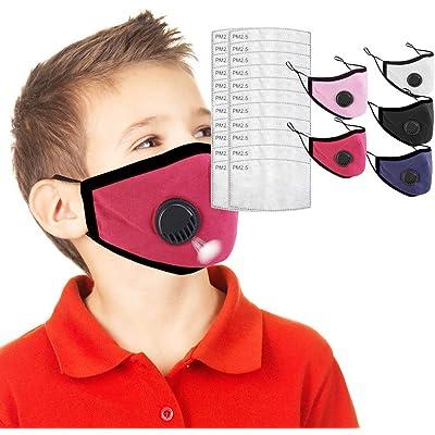 IUTE 5 𝐌𝐚𝐬𝐜𝐚𝐫𝐢𝐥𝐥𝐚𝐬 Algodon Reutilizables con 20 Filtros para niños, Tela Lavable de Algodón Suave y semicara, Lavable