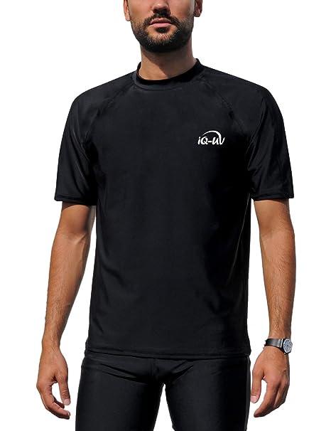 f6d30b52bca9 iQ-UV Loose Fit Camiseta, Hombre, Negro, 4XL/60: Amazon.es: Deportes ...
