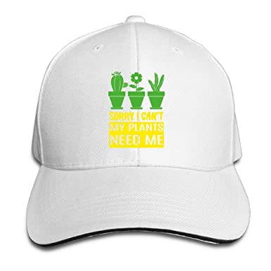 5cbf42d8df0 Sorry I Can t My Plants Need ME Adult Adjustable Snapback Hats Dad ...