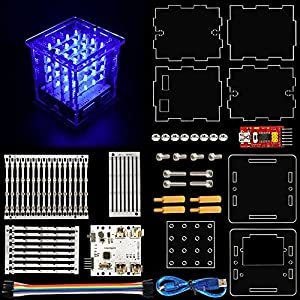 AVOLUTION 444 LED Cube Light Kit with for Arduino Diffuse Blue Light,LED Cube Light Kit from AVOLUTION