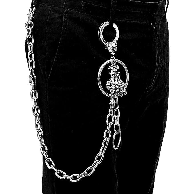 sale usa online official shop best supplier Punk Pants Chain Men/Women Hip Hop Metal Jeans Keychain