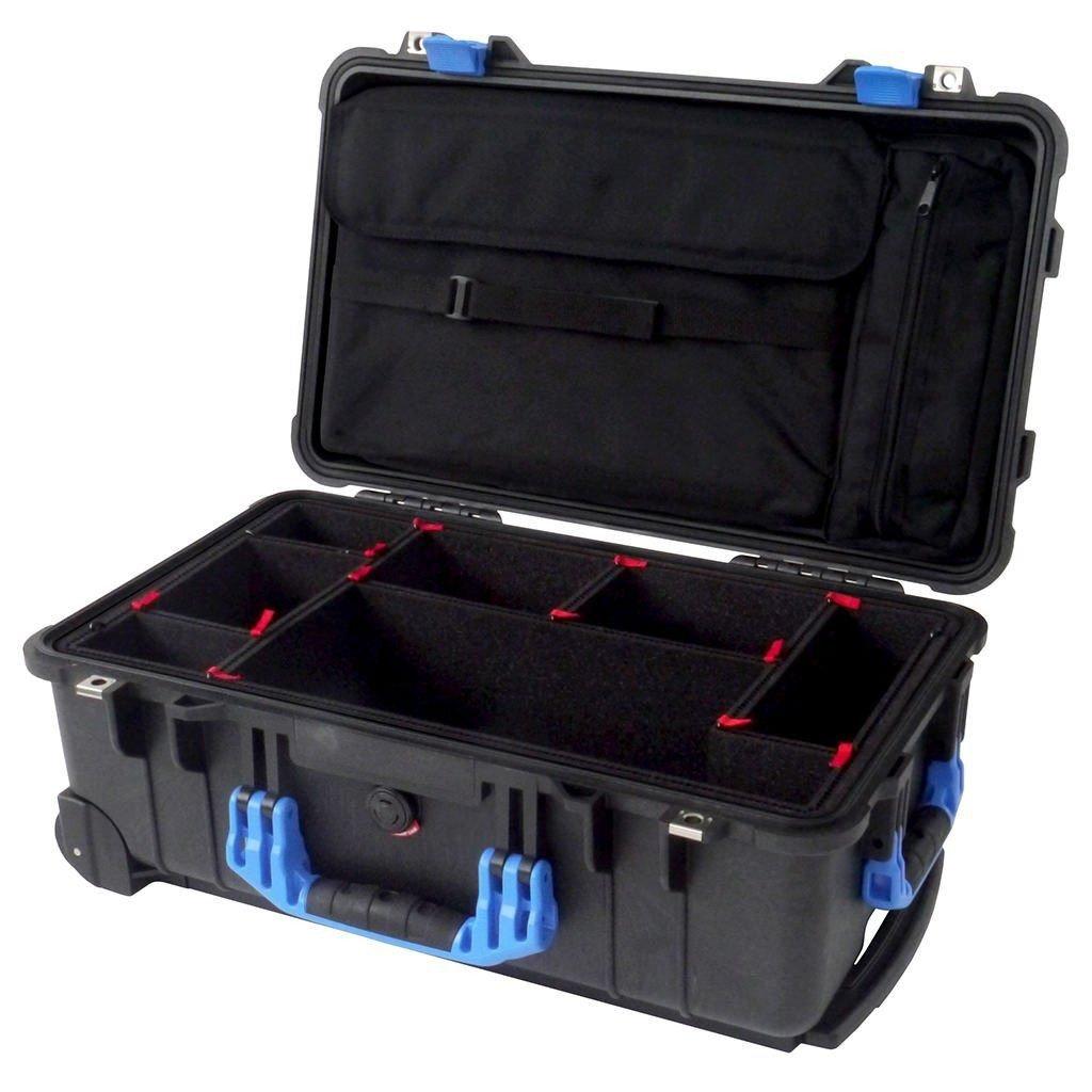 ブラック&ブルーPelican 1510ケースwith trekpak Dividerシステム&コンピュータ蓋ポーチ。 B01MYX281Q