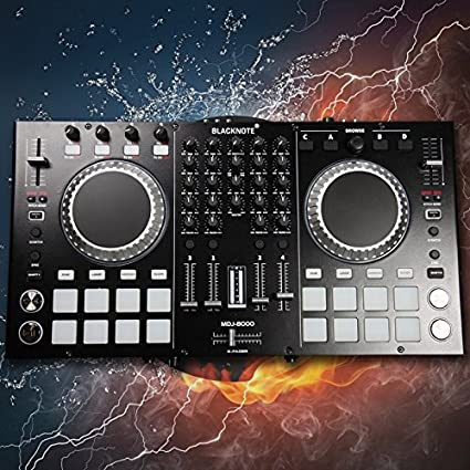 BLACKNOTE DJ MIDI controller to play players playing disc audio