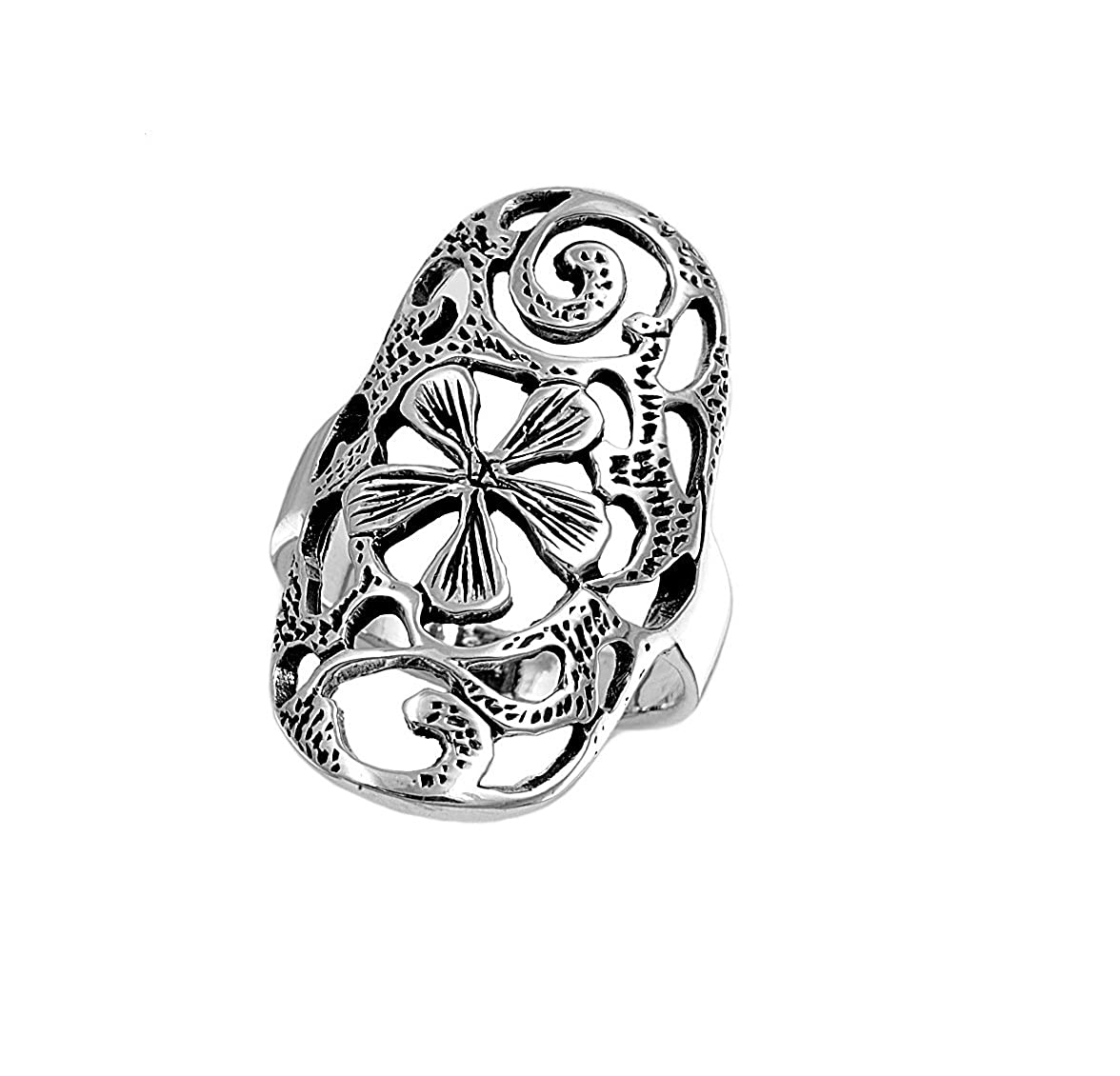 Princess Kylie 925 Sterling Silver Ring with Vines Ring