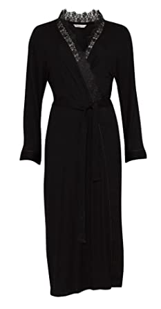 6186c2cd5 Nora Rose from Cyberjammies Black Modal Long Sleeve Ladies Dressing Gown  (12)  Amazon.co.uk  Clothing