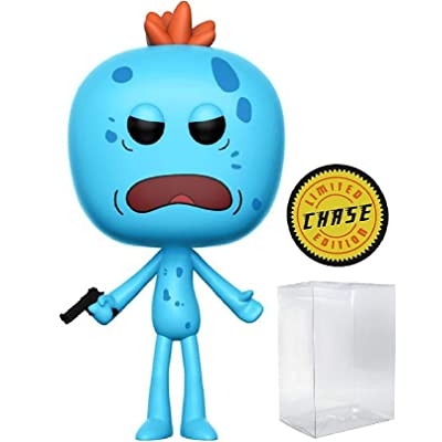 RICK AND MORTY - Mr. Meeseeks Limited Edition Chase Funko Pop! Vinyl Figure (Includes Compatible Pop Box Protector Case): Toys & Games