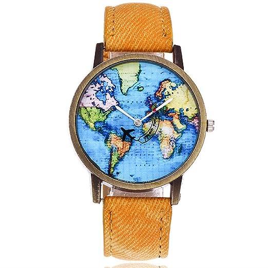 Reloj de Cuarzo Resistente a Prueba de Agua y Polvo Resistente - Amarillo: Amazon.es: Relojes