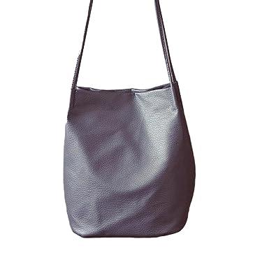 02205d24a695ba DDLBiz® Frauen Leder Handtasche Cross Body Schulter Umhängetasche (Grau)
