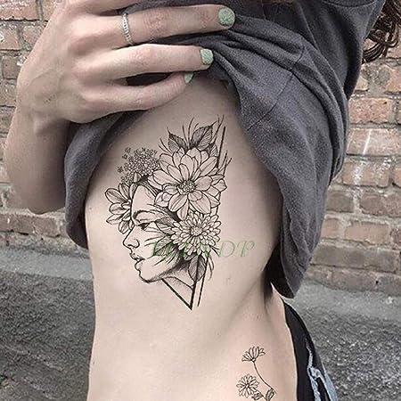 Etiqueta engomada del Tatuaje 3pcs pájaro Rosa Cuerpo de Gran ...