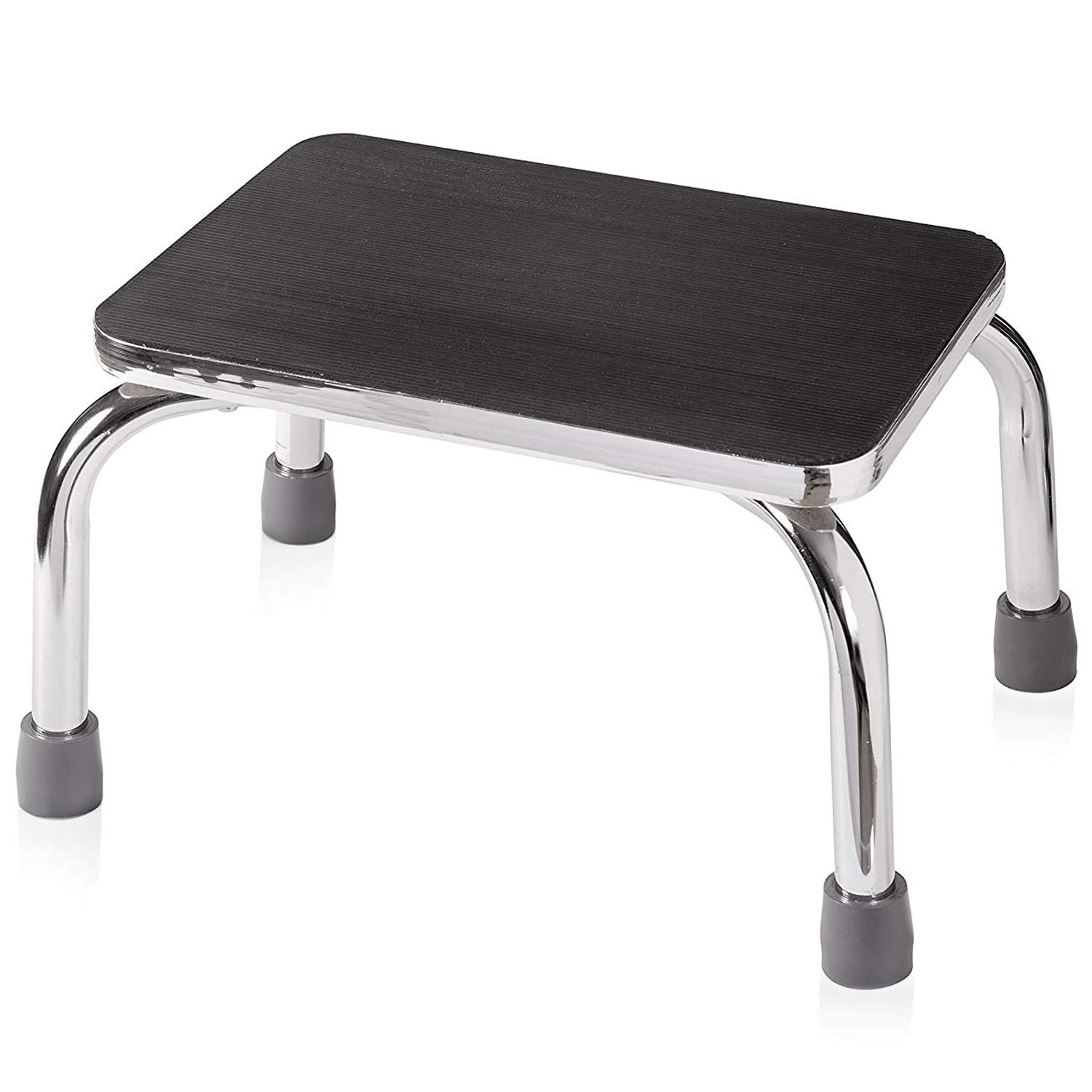 DMI Step Stool for Adults and Seniors, Heavy Duty Metal Stepping Stool for High Beds, Portable Foot Step Stool for Elderly, 250 lb Weight Capacity. by Duro-Med