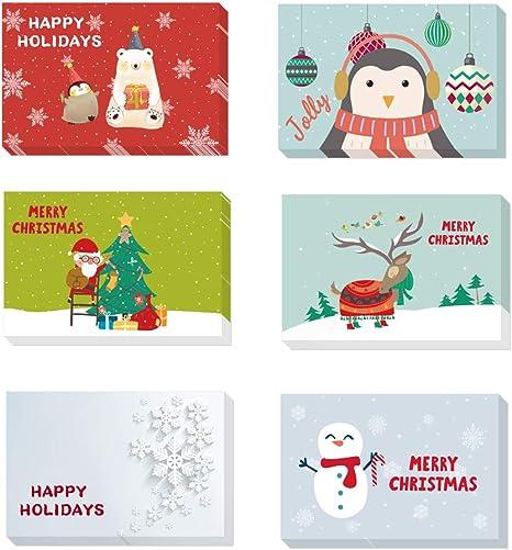 Amazon.com: Tarjetas de felicitación de Navidad hechas a ...