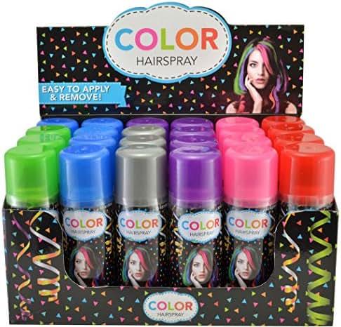 Temporary Hair Color Spray 3 oz - Case (24 Cans) - 6 Colors