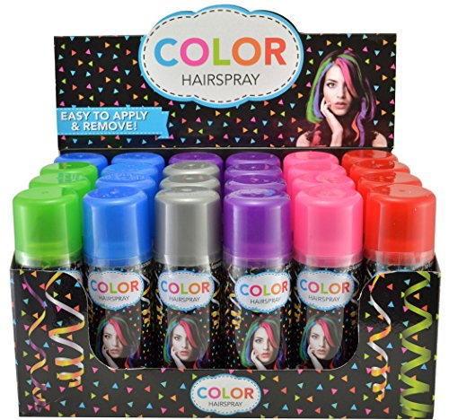 Temporary Hair Color Spray 3 oz - Case (24 Cans) - 6 Colors
